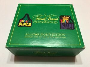 Trivial Pursuit All Star Sports Edition Card Set For Use With Master Game 1983