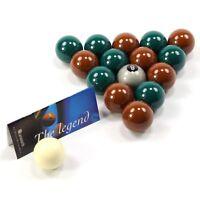 EXCLUSIVE! Aramith Premier SILVER 8 BALL Edition GREEN & BROWN Pool Balls