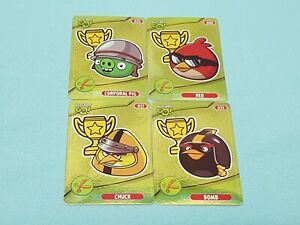 Angry Birds Go!  Trading Cards 4 x Limited Edition  Limitierte Auflage