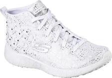 Skechers Burst Seeing Stars High Top Women US 9 White Sneakers