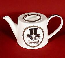 Kaffeekanne Teekanne Kanne Jameson&Tailor Brillant Porzellan Katze mit Zylinder