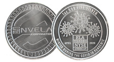 1 oz Envela .999 Ag Silver Round Bu - Cv-19 Symbol Stamped