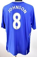 FC EVERTON EPL Badges JOHNSON #8 Home Shirt 2007 2008 XXL Mens Jersey 2XL Umbro