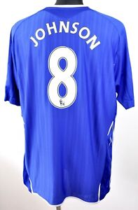 FC EVERTON EPL Badges JOHNSON #8 Home Shirt 2007 2008 XXL Mens Jersey 2XL Umbro