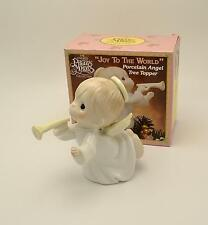"""Precious Moments Joy to the World Porcelain Angel Tree Topper 6"""" 442291 in Box"""
