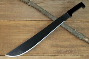 Machete 45cm Black Steel Blade Plastic HD Handle Sheath Survival Bush Camping