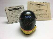 RUSTY WALLACE Signed AUTO - 1:4 SIMPSON 1st edition REPLICA MINI HELMET Miller