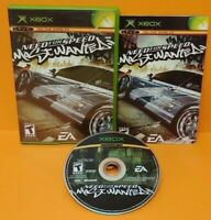 Need For Speed Most Wanted Racing  Microsoft XBOX OG Rare Game Tested Complete
