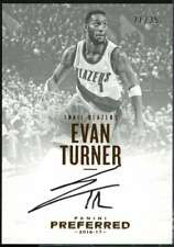Evan Turner AU Card 2016-17 Panini Preferred #126 /35