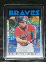 2021 Topps Chrome CHIPPER JONES #86BC-64 Atlanta Braves '86 Anniversary