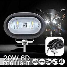 20W 6D Lens Lamp Motorcycle Modified Spotlight LED Floodlight White Work Light