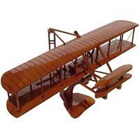 Wright Flyer Mahogany Wood Desktop Airplane Model