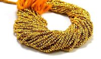 Beautiful Gold Pyrite Gemstone 3-4 mm Rondelle Faceted Jewelry Making Beads 13""