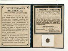 D5531 COA ROMAN COIN 240-410 AD WITH CASE