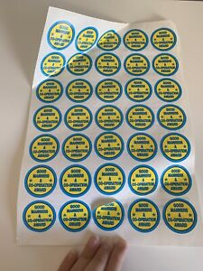 Approximately 35 Good Manners & Cooperation Award Stickers