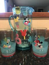 New Disney Eats Ice Cream Collection Mickey & Minnie Pitcher Includes 4 Cups