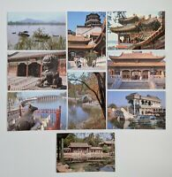 Folder with 9 post cards of the Summer Palace in Beijing, China