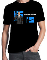 Archer Stirling International Spy Intelligence Agency Funny Cartoon Mens T-Shirt
