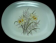 CROWN DEVON Yellow Daffodils 11/4 inch by 9 1/4 inch Oval Plate /Platter  c1930