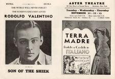 Son of the Shiekt Original Herald from the 1926 Movie starting Rodolfo Valentino