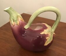 Fitz And Floyd Ceramic Eggplant Water Pitcher