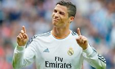 GLOSSY PHOTO PICTURE 8x10 Cristiano Ronaldo Funny Face And Fingers Up