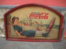 COCA COLA Dipinto Olio su Faesite ORIGINALE 1950 Targa POP ART + STIMA PERITO
