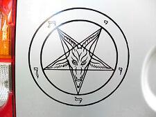 Satans Pentagram gods myths pagan Stickers/car/van/bumper/window/decal 5215BlacK