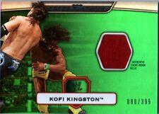 WWE Kofi Kingston GREEN Topps Platinum 2010 Event Worn Relic Card SN 80 of 399