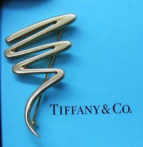 Tiffany & Co Paloma Picasso Zig Zag Broche 18Kt Oro Amarillo