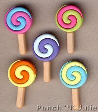 Twisted POP-Candy Sweet Shop LOLLIPOP Lolly CIBO Dress IT UP Pulsanti Craft