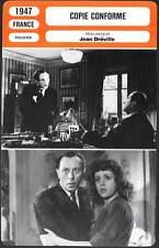 COPIE CONFORME - Jouvet,Carmet,Delair (Fiche Cinéma)1947  Confessions of a Rogue