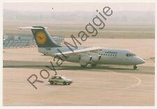 Colour print of Lufthansa Cityline Avro RJ85 D-AVRN at Frankfurt in 1997