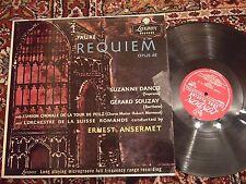 London LL 1394 Fauré Requiem opus 48 Danco, Souzay Ansermet
