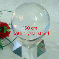 "6""(150mm) Feng Shui Clear Crystal Ball Sphere w/ Stand for Collection or a Gift"
