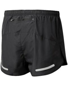 RONHILL Mens CORE Split SHORT Lightweight Racing Run Running Shorts Black LP£23