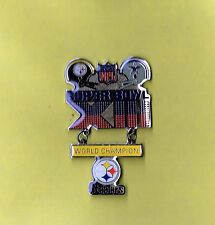 Pittsburgh Steelers Super Bowl XIII 13 Champions Large Dangle Football Hat Pin