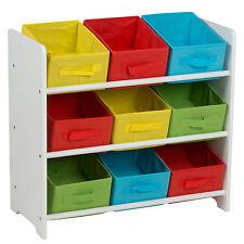 Kinderregal Spielzeugbox Spielzeugregal Kindermöbel mit 9 Boxen Kinder Regal