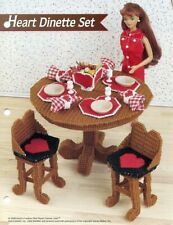 Heart Dinette Set for Barbie Annie's Attic Plastic Canvas Pattern Leaflet RARE