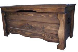Wooden Vintage Blanket Trunk Box Coffee Table Chest Ottoman Furniture WBA2