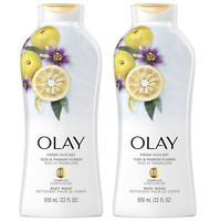 (2) Packs Olay Fresh Outlast Body Wash, Yuzu & Passion Flower, 22 fl oz Each