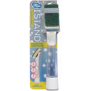 Dishmatic I Stand Washing Up Brush with Sponge Stand upright Leak Resistant UK