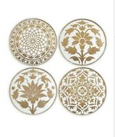 Lenox Global Tapestry Gold Tidbit / Dessert Plates - Set of 4 New