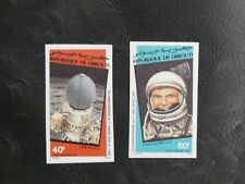TIMBRES THEME COSMOS SPATIAL : 1982 DJIBOUTI YVERT PA N° 161/62 NEUF Non Dentelé