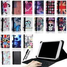 """Universal Leather Stand Cover Case + Bluetooth Keyboard For 7"""" 8"""" 10"""" Tablet"""