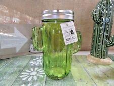 LED Deco Tischleuchte Glas Kakteen Partydeko Schraubverschluß LED-Draht hellgrün