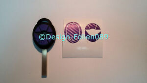 Carbon Lila - Violett Folie Dekor Schlüssel Key Cooper JCW S Mini R53 John Works