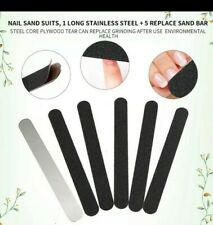 6 pcs  DOUBLE SIDED REPLACEMENT  SANDING PAPER  SET + METAL HANDLE - UK SELLER