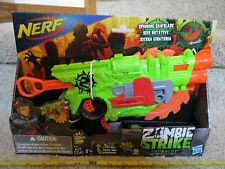 Nerf Gun New Zombie Strike Saw Crosscut Gun 4 Elite bullets spinning blade toy