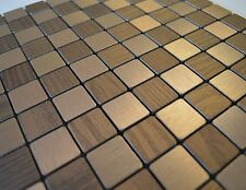 FlexiPixTile-Aluminum Peel & Stick Mosaic Tile Kitchen Backsplash - CHECKMATE
